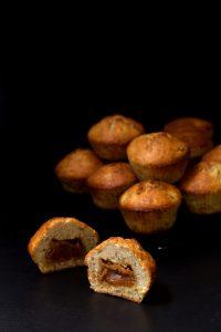 Muffinki bananowe z krówkami