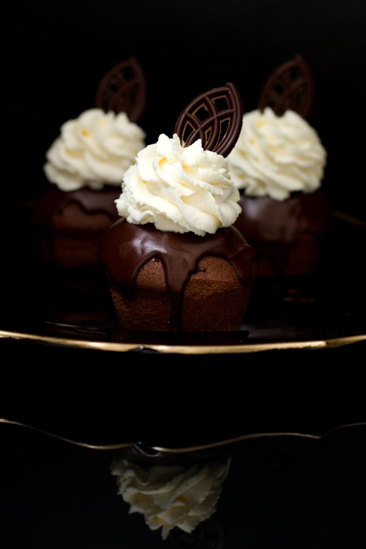 Podwójnie czekoladowe babeczki